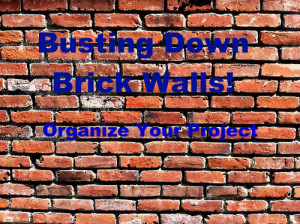 Busting Down Brick Walls: Organize Your Project