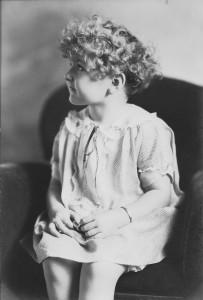 Nancy Jean Rogers studio portrait taken in 1925.