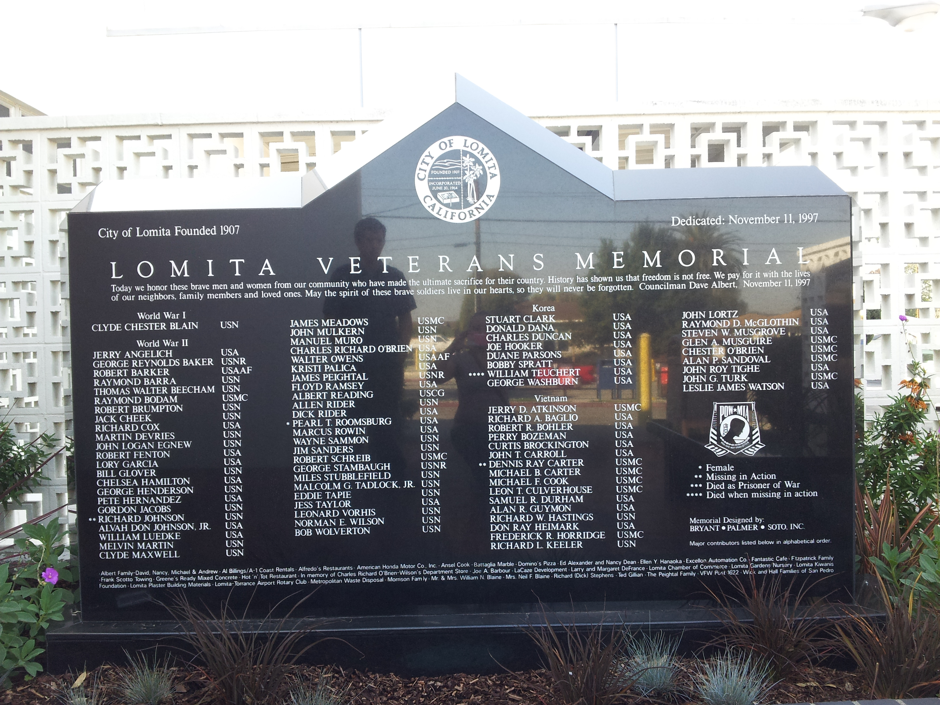 Lomita Veterans Memorial